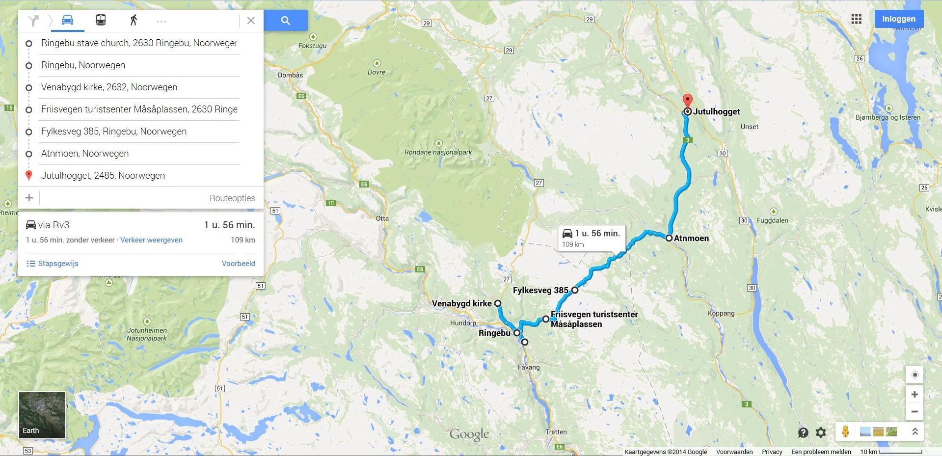 jutulhogget kart 2.6 2.8 Oppland en Hedmark   Onze autovakanties in Noorwegen jutulhogget kart